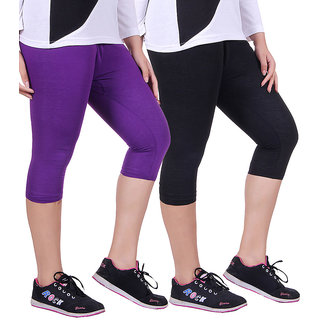 Madona Capri With Mayani - Pack of 2 (Purple-Black)