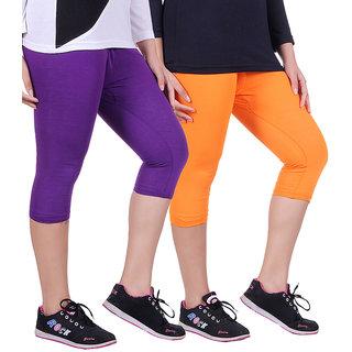 Madona Capri With Mayani - Pack of 2 (Purple-Orange)