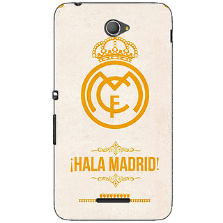 1 Crazy Designer Real Madrid Back Cover Case For Sony Xperia E4 C620593