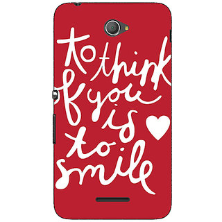 1 Crazy Designer Quotes Smile Back Cover Case For Sony Xperia E4 C621170