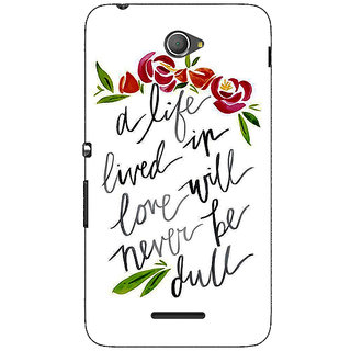 1 Crazy Designer Quotes Back Cover Case For Sony Xperia E4 C621195