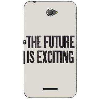 1 Crazy Designer Future Quote Back Cover Case For Sony Xperia E4 C621205