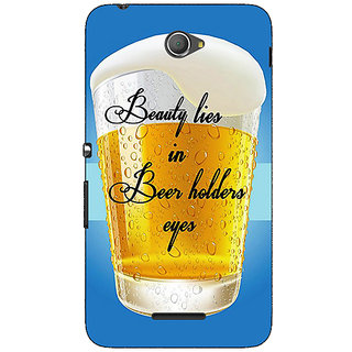 1 Crazy Designer Beer Holder Back Cover Case For Sony Xperia E4 C621208