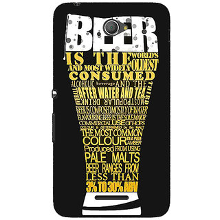 1 Crazy Designer Beer Quote Back Cover Case For Sony Xperia E4 C621227