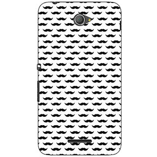 1 Crazy Designer Moustache Back Cover Case For Sony Xperia E4 C621448