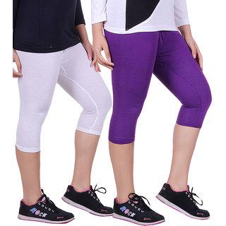 Madona Capri With Mayani - Pack of 2 (Purple-White)