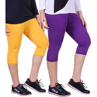 Madona Capri With Mayani - Pack of 2 (Purple-Yellow)