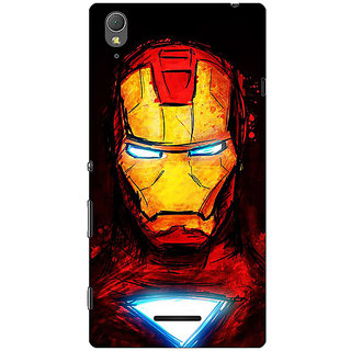 1 Crazy Designer Superheroes Ironman Back Cover Case For Sony Xperia T3 C640030