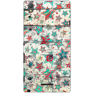 1 Crazy Designer Funky Stars Pattern Back Cover Case For Sony Xperia T3 C640264