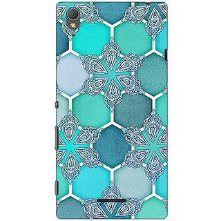 1 Crazy Designer Floral Hexagons Pattern Back Cover Case For Sony Xperia T3 C640281
