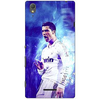 1 Crazy Designer Cristiano Ronaldo Real Madrid Back Cover Case For Sony Xperia T3 C640308