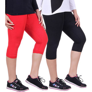 Madona Capri With Mayani - Pack of 2 (Red-Black)