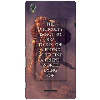 1 Crazy Designer LOTR Hobbit  Back Cover Case For Sony Xperia T3 C640367