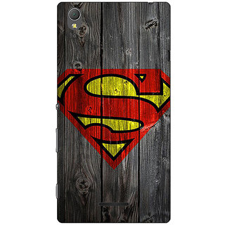 1 Crazy Designer Superheroes Superman Back Cover Case For Sony Xperia T3 C640384