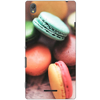1 Crazy Designer Macaroons Back Cover Case For Sony Xperia T3 C640685