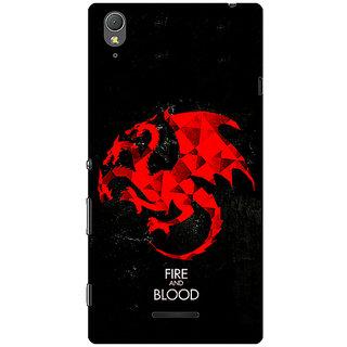 1 Crazy Designer Game Of Thrones GOT House Targaryen  Back Cover Case For Sony Xperia T3 C640140