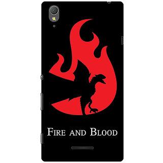 1 Crazy Designer Game Of Thrones GOT House Targaryen  Back Cover Case For Sony Xperia T3 C640143