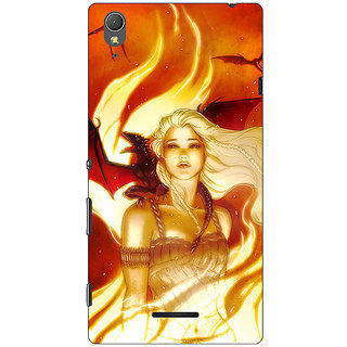 1 Crazy Designer Game Of Thrones GOT House Targaryen  Back Cover Case For Sony Xperia T3 C640146