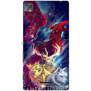 1 Crazy Designer Game Of Thrones GOT House Targaryen  Back Cover Case For Sony Xperia T3 C640148