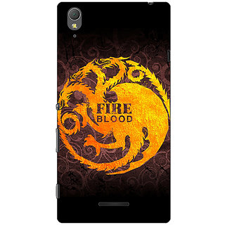 1 Crazy Designer Game Of Thrones GOT House Targaryen  Back Cover Case For Sony Xperia T3 C640149