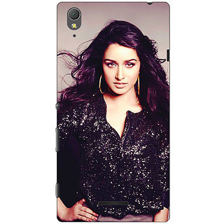 1 Crazy Designer Bollywood Superstar Shraddha Kapoor Back Cover Case For Sony Xperia T3 C640980