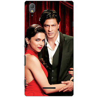 1 Crazy Designer Bollywood Superstar Deepika Padukone Shahrukh Khan Back Cover Case For Sony Xperia T3 C641024