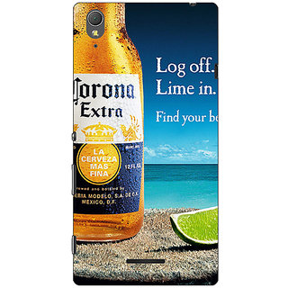 1 Crazy Designer Corona Beer Back Cover Case For Sony Xperia T3 C641237