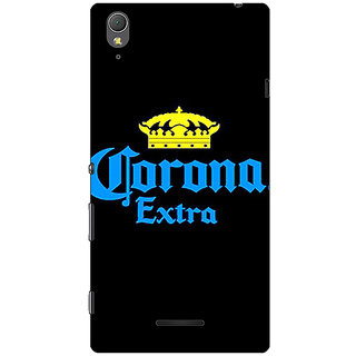 1 Crazy Designer Corona Beer Back Cover Case For Sony Xperia T3 C641241