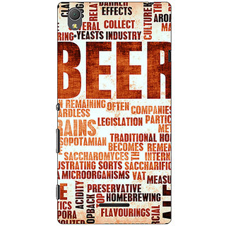 1 Crazy Designer Beer Quote Back Cover Case For Sony Xperia T3 C641242