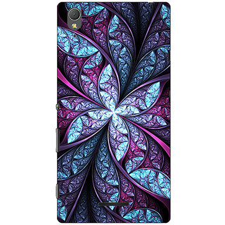 1 Crazy Designer Abstract Flower Pattern Back Cover Case For Sony Xperia T3 C641520