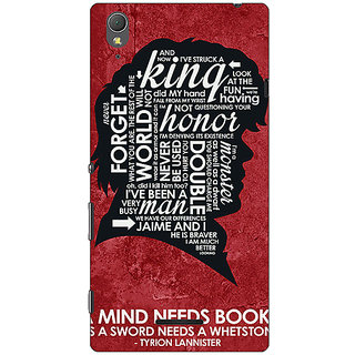 1 Crazy Designer Game Of Thrones GOT House Lannister Tyrion Back Cover Case For Sony Xperia T3 C641557