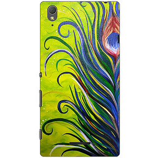 1 Crazy Designer Paisley Beautiful Peacock Back Cover Case For Sony Xperia T3 C641590