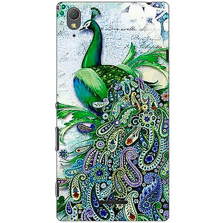 1 Crazy Designer Paisley Beautiful Peacock Back Cover Case For Sony Xperia T3 C641591