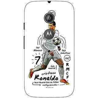 1 Crazy Designer Real Madrid Ronaldo Back Cover Case For Moto E2 C650586