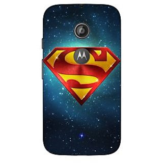 1 Crazy Designer Superheroes Superman Back Cover Case For Moto E2 C650383