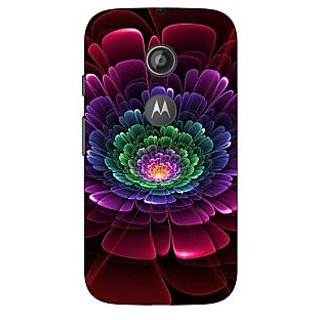 1 Crazy Designer Abstract Flower Pattern Back Cover Case For Moto E2 C651504