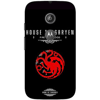 1 Crazy Designer Game Of Thrones GOT House Targaryen  Back Cover Case For Moto E2 C650144