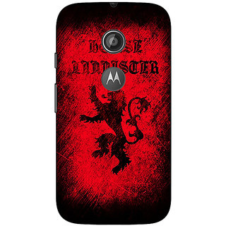 1 Crazy Designer Game Of Thrones GOT House Lannister  Back Cover Case For Moto E2 C650166