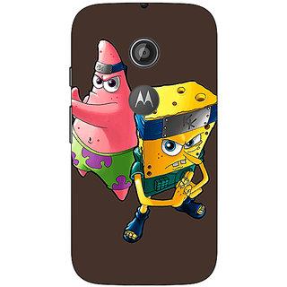 1 Crazy Designer Spongebob Patrick Back Cover Case For Moto E2 C650471