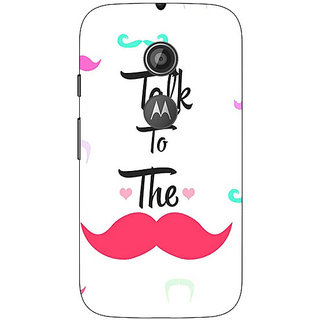1 Crazy Designer Moustache Quote Back Cover Case For Moto E2 C650816