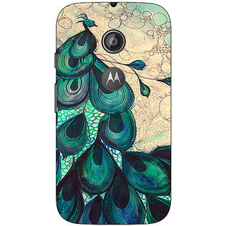 1 Crazy Designer Paisley Beautiful Peacock Back Cover Case For Moto E2 C651585