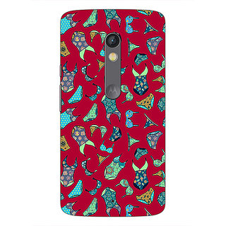 1 Crazy Designer Inners Pattern Back Cover Case For Moto X Play C660245
