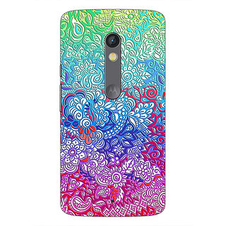 1 Crazy Designer Flower Gardens Pattern Back Cover Case For Moto X Play C660249