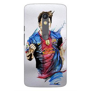 1 Crazy Designer Barcelona Messi Back Cover Case For Moto X Play C660526