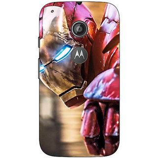 1 Crazy Designer Superheroes Ironman Back Cover Case For Moto E2 C650864