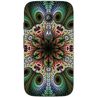1 Crazy Designer Paisley Beautiful Peacock Back Cover Case For Moto E2 C651597