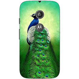 1 Crazy Designer Paisley Beautiful Peacock Back Cover Case For Moto E2 C651599