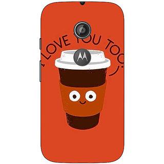 1 Crazy Designer Coffee Love Back Cover Case For Moto E2 C651433