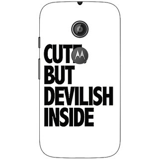 1 Crazy Designer Quote Back Cover Case For Moto E2 C651445