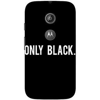 1 Crazy Designer Quote Back Cover Case For Moto E2 C651479